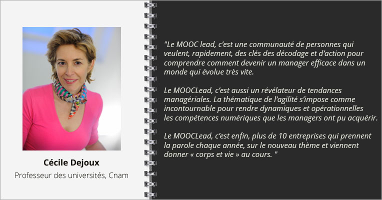 Interview Cécile Dejoux, MOOC du manager au leader agile
