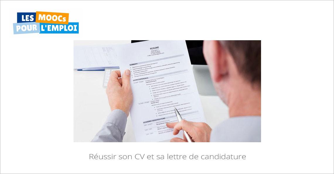 r u00e9ussir son cv et sa lettre de candidature