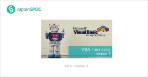 SPOC VBA niveau 1