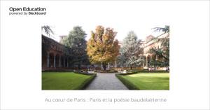 Au coeur de Paris, poésie Baudelairienne