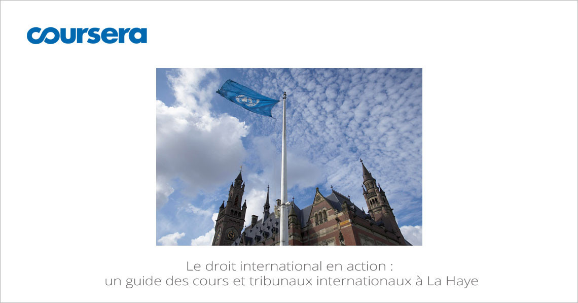 MOOC Le droit international en action : un guide des cours et tribunaux internationaux à La Haye