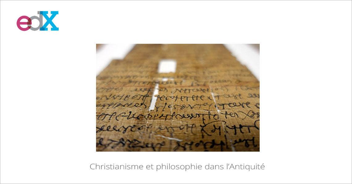 MOOC Christianisme et philosophie dans l'Antiquité