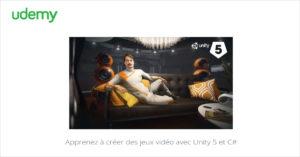 Apprenez à créer des jeux vidéo avec Unity 5 et C#