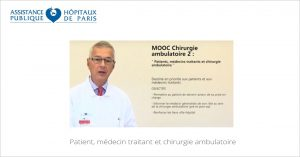 MOOC Chirurgie ambulatoire 2