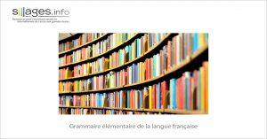 MOOC Grammaire élémentaire de la langue française
